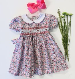 Boutique Collection Ditsy Floral Smocked Dress 3m-6y