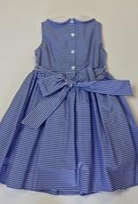 Anavini Smocked Royal Stripe Dress
