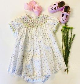 Luli Rosebud Smock Dress 3m-24m