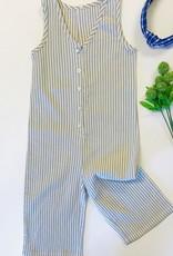 Rylee + Cru Khaki Stripe Jumpsuit