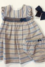 Mayoral Khaki Stripe Dress