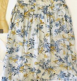 Creamie Print Rayon Skirt 7-14Y