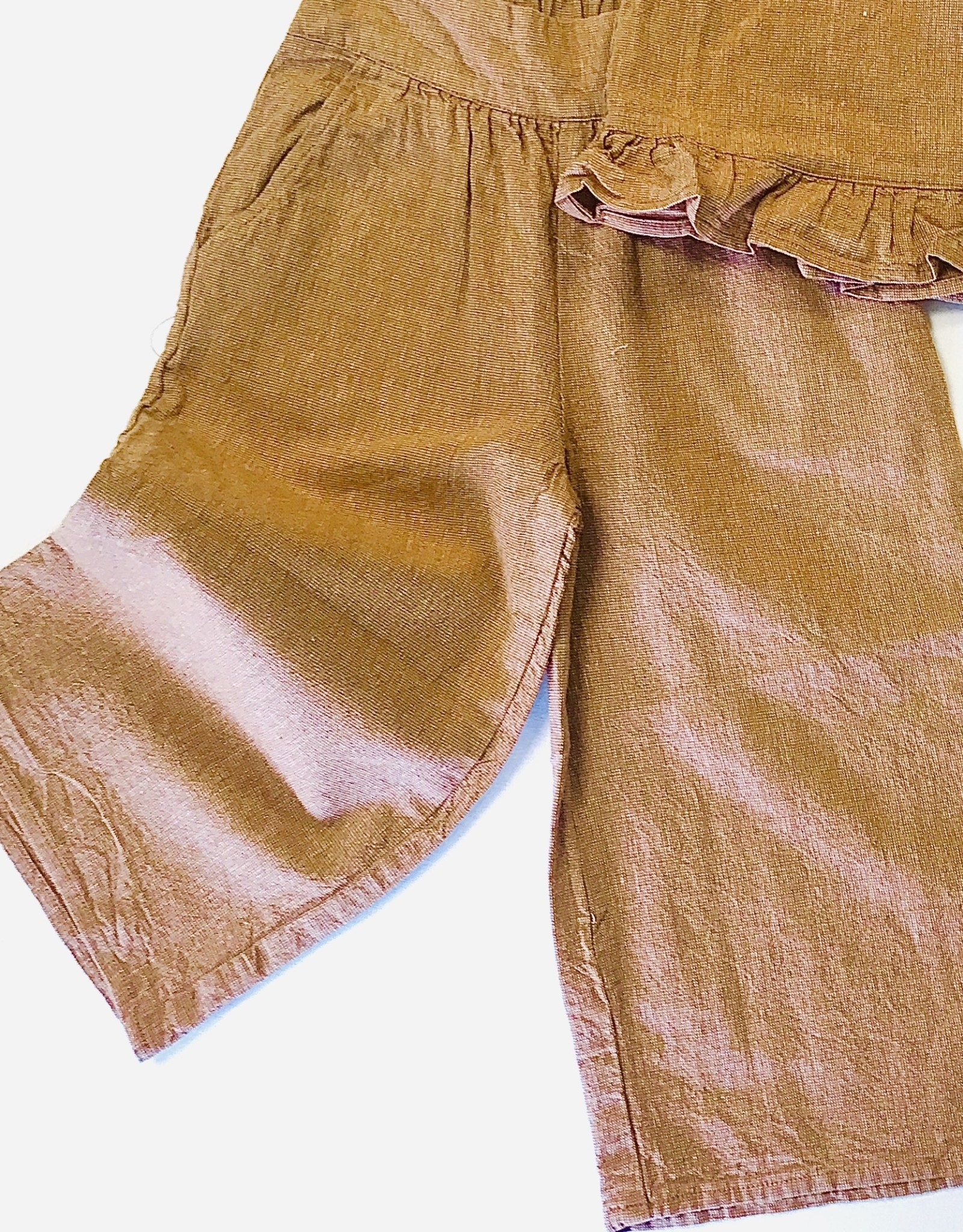 Rylee + Cru Bronze Wide pants 2/3-8/9