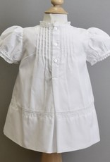 Feltman Dress-White tucks embroidered yoke-Feltman 3m-9m