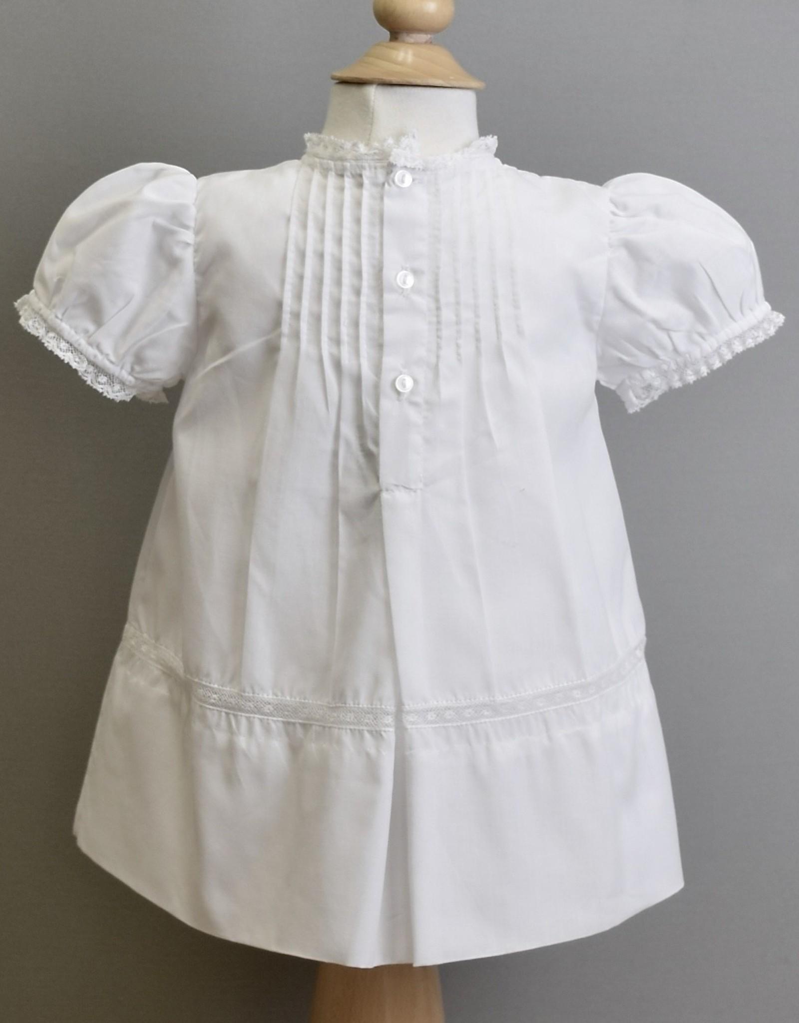 Feltman Dress-White tucks embroidered yoke-Feltman 3m-9m
