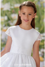 JoanCalabrese White Chiffon and Lace Classic Dress
