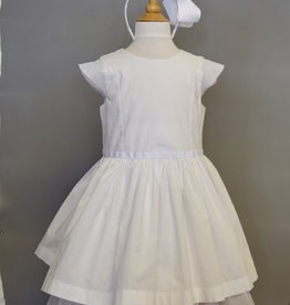 Petit Bateau White Cotton & Tulle Dress