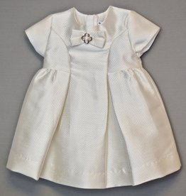 Mayoral Dress Cream Metallic Jacquard w- bow 6m -24m/2