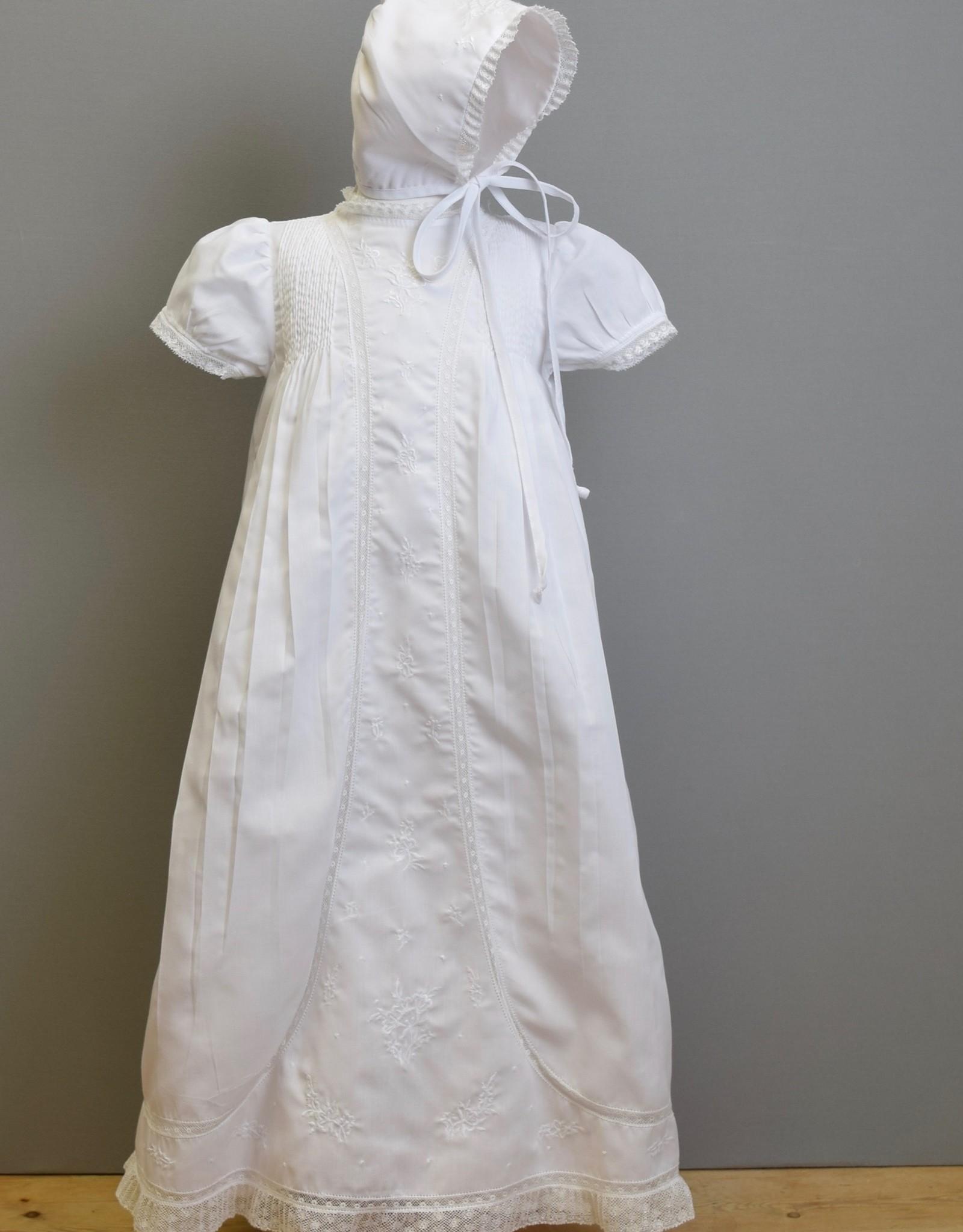 Feltman Gown-Wht Embriodered panel-Feltman