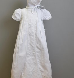 Feltman Gown Wht Embriodered panel 5956