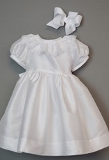 Susanne Lively Dupioni  & Lace Ruffle Dress 3m-24m