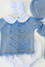 Juliana Pique and Pointelle Knit Bloomer Set