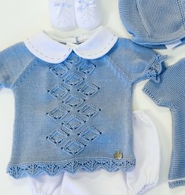 Juliana Pique and Pointelle Knit Bloomer Set 1m-24m