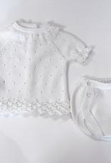 Juliana Cream Knit Pointelle Set