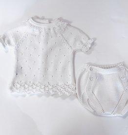 Juliana Cream Knit Pointelle Set 1m-18m