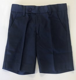 Leo and Zachary Navy Gaberdine Short 2/3-7y