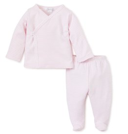 KissyKissy Stripe footie wrap-set
