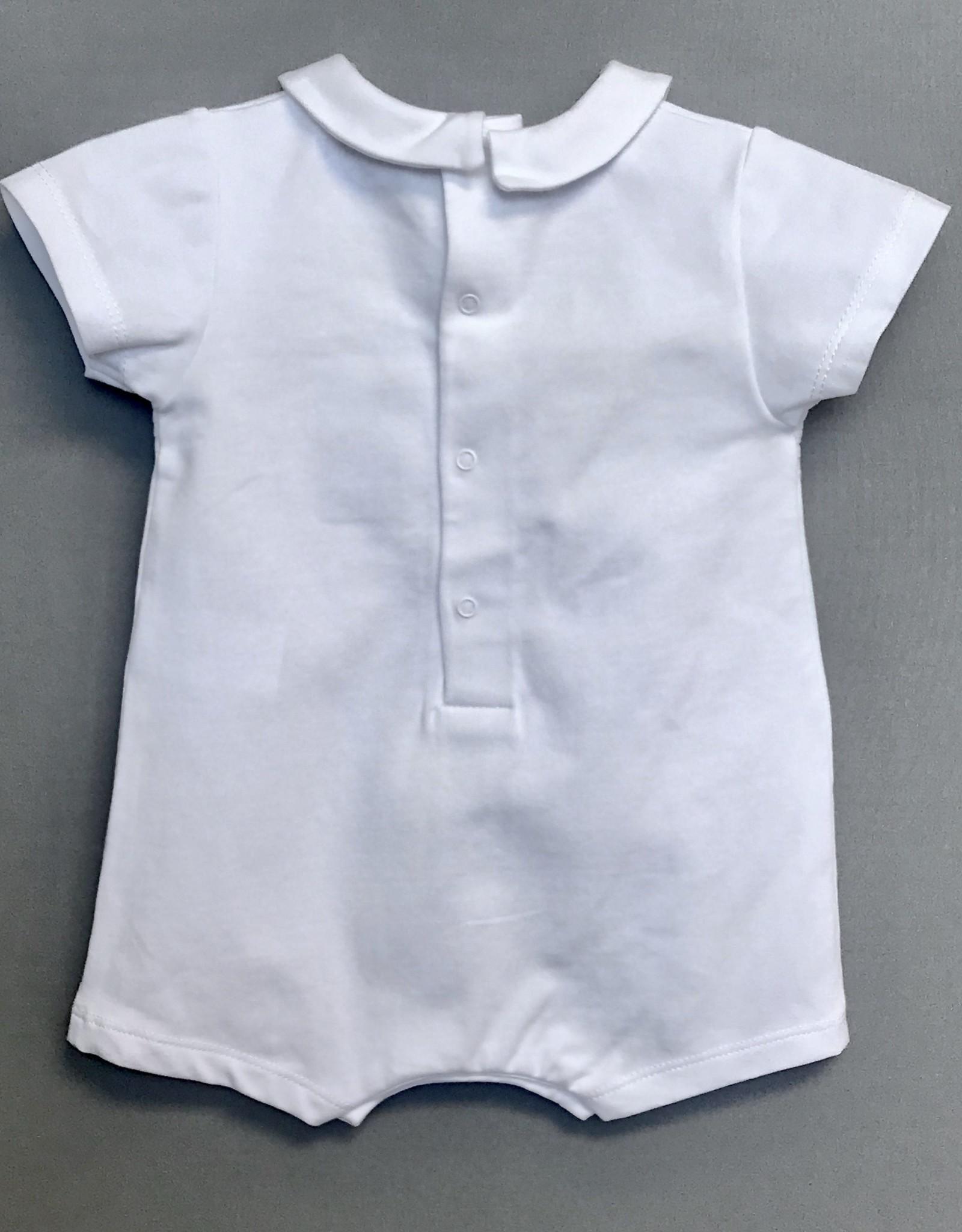 Laranjinha Infant Knit Romper fagoting insert