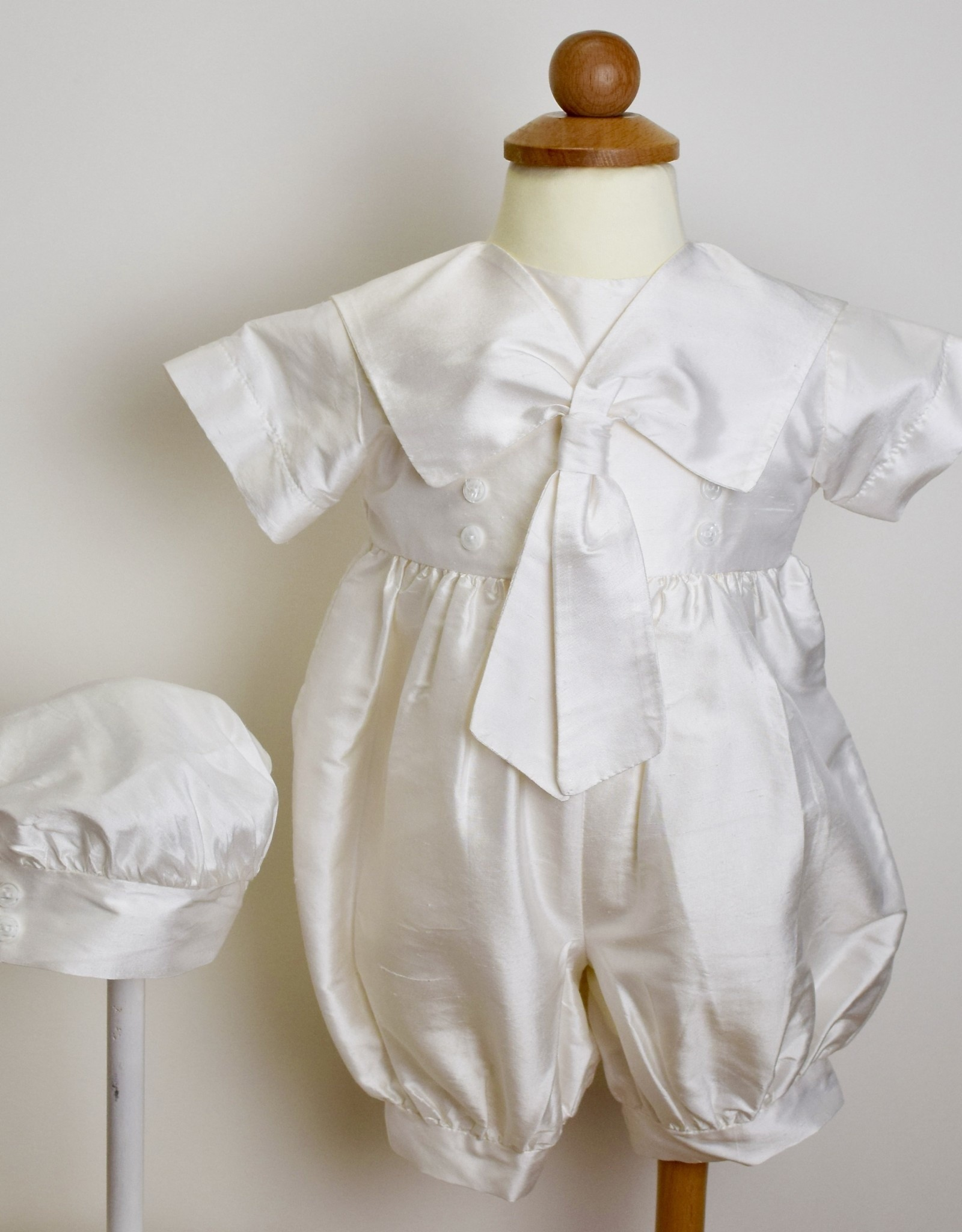 Little Things Mean A Lot Romper-Crm Silk Sailor/Hat