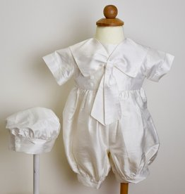 LIttle Things Mean Alot Silk Sailors Romper & Hat
