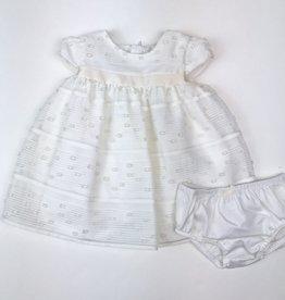 Mayoral Organza Striped Dress NB-18m