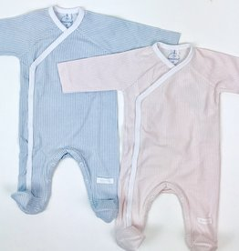 Laranjinha Vertical Stripe Footie