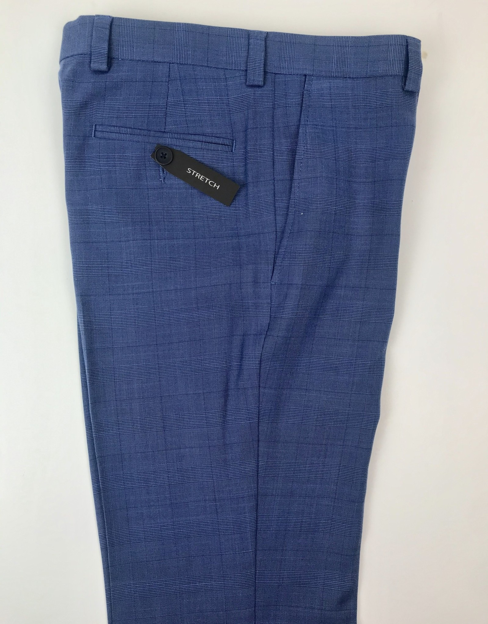 Andrew Marc Trouser Med Blue Plaid
