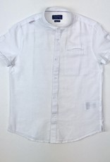 Mayoral Shirt white linen band collar 8y to 16y
