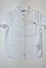 Mayoral Shirt White linen band collar sizes 2,4,6,
