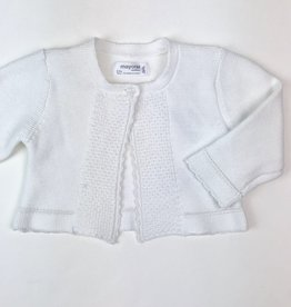 Mayoral White Infant Cardigan