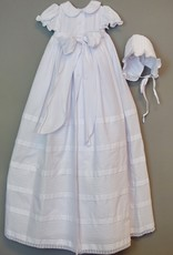 Willbeth White Pleated and Embroidered Gown