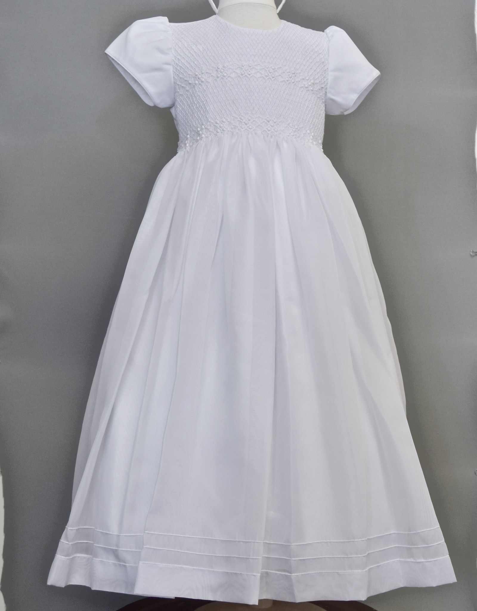 Willbeth White smock organza  dress
