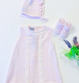 Juliana Pink knit infant dress
