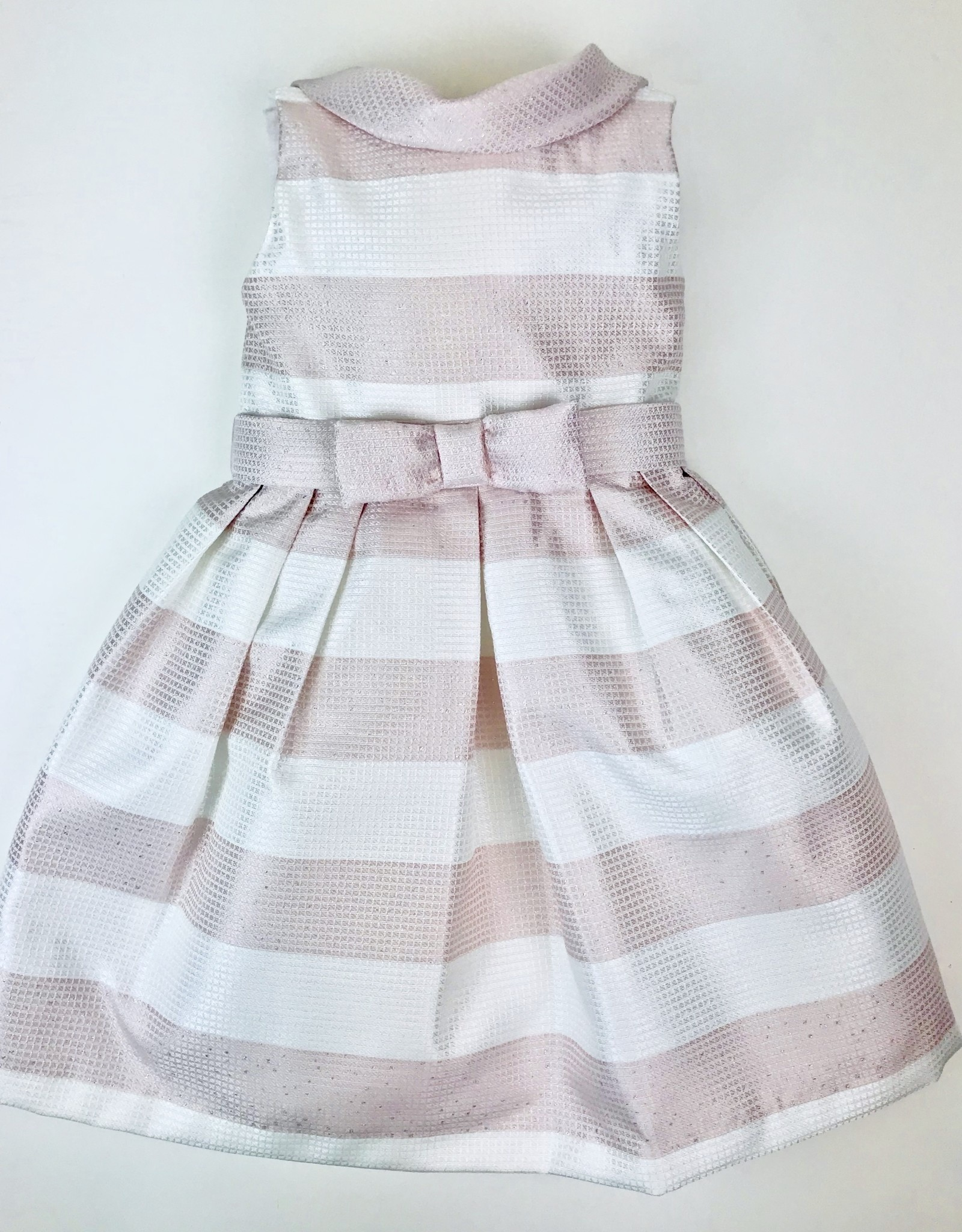 Abel & Lula Pink Stripe Glitter Dress 5y-12y