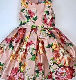 Abel & Lula Salmon Rose Taggeta Dress 4y-10y
