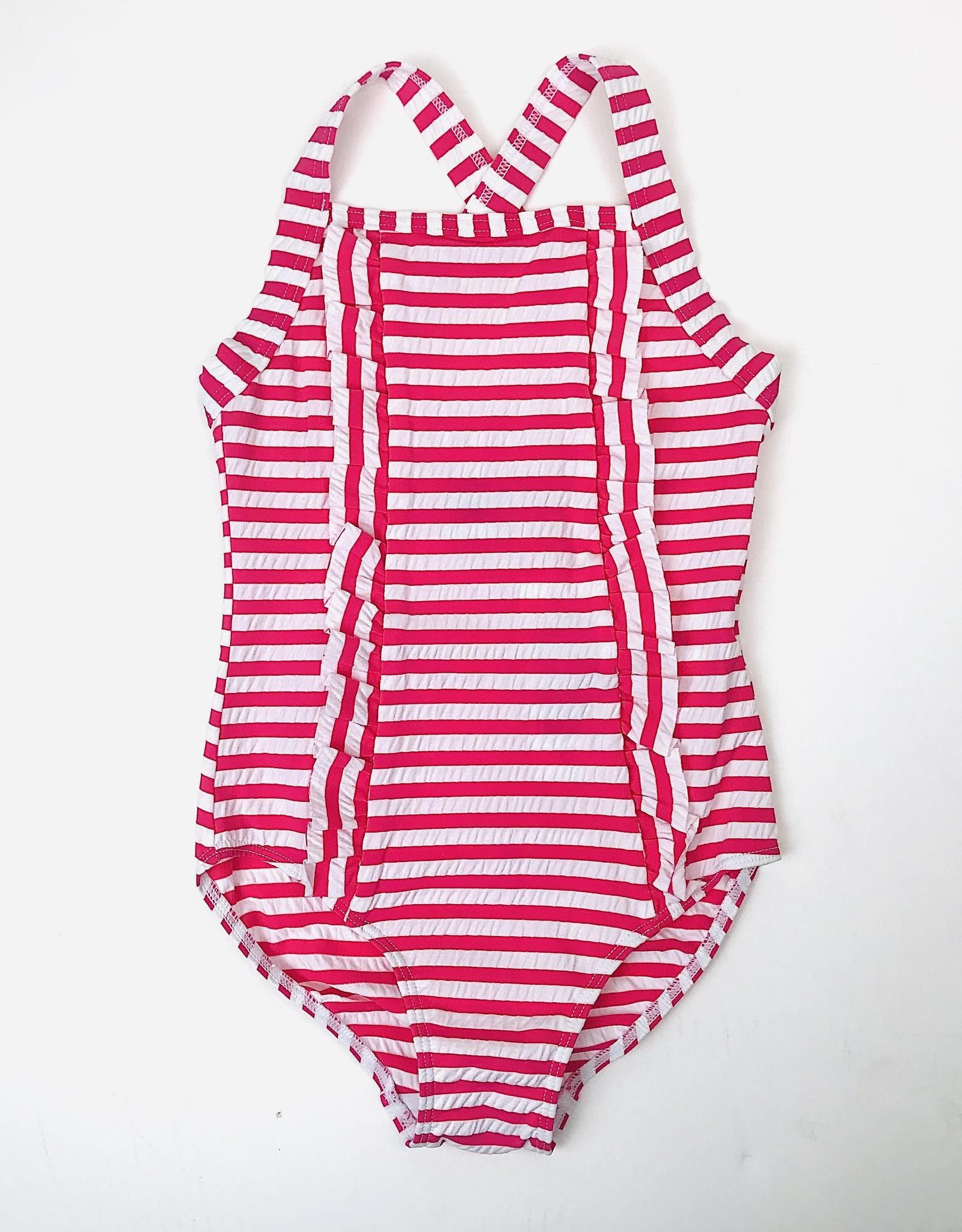 Petit Bateau Seersucker stripe Swimsuit 3y-12y