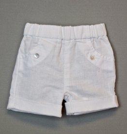 Laranjinha White Linen  Short NB-1mo
