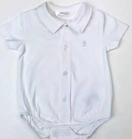 Mayoral Infant Onesie with collar NB-18m