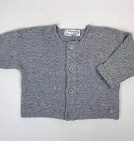 Mayoral Grey Knit Cardigan 1/2m-12m