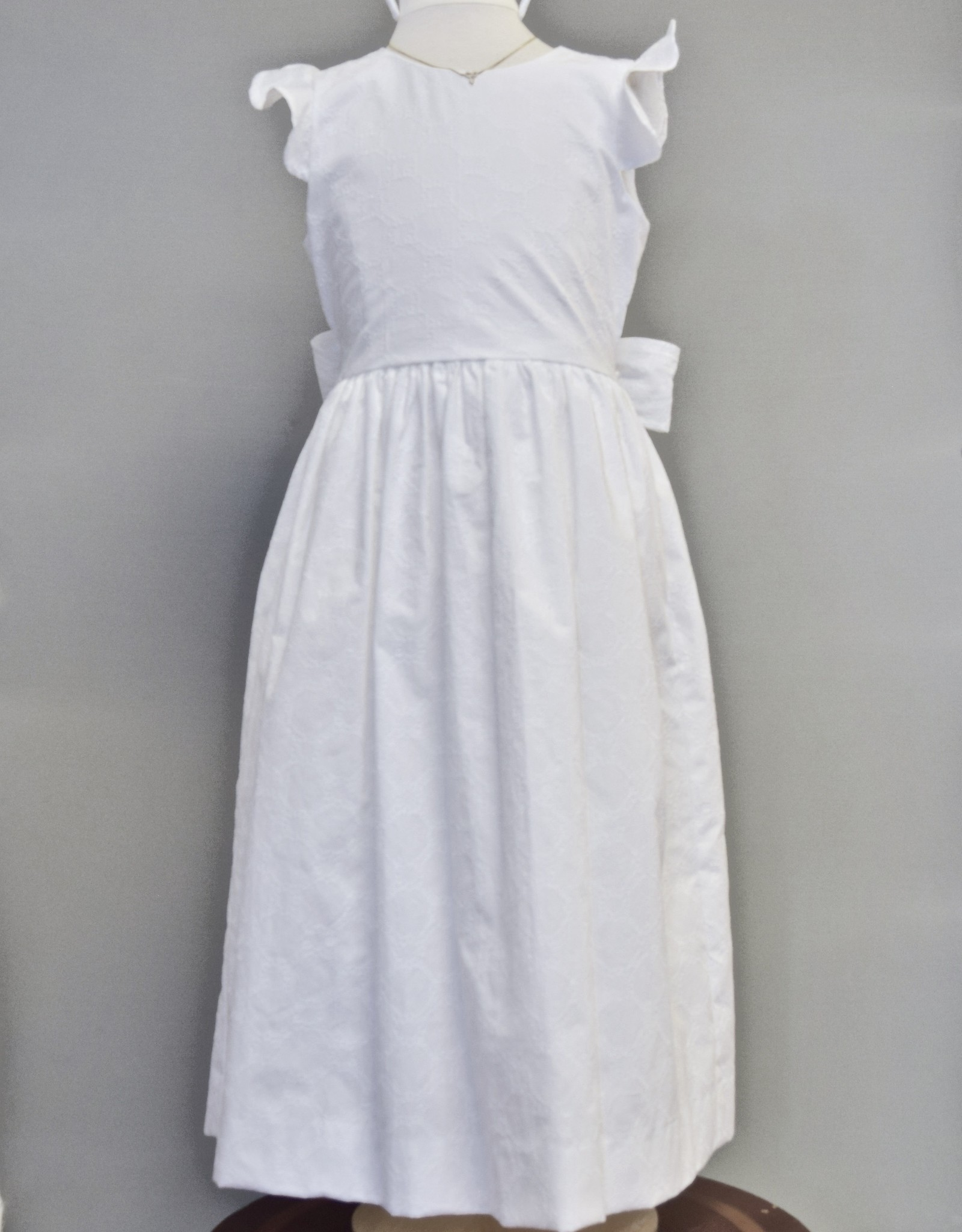 Maggie Breen White Circle Embroidered Dress