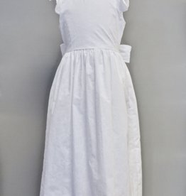 Maggie Breen White Circle Embroidered Dress Sz 7 & 8