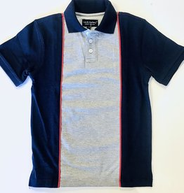 Leo and Zachary Polo Navy/Grey 2y-12y