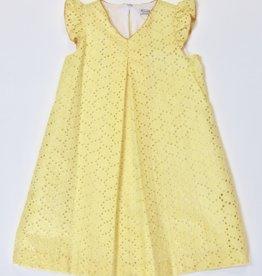 Gabby Yellow Eyelet Dress 4-16Y