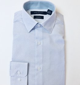 Andrew Marc Shirt lt-Blue Neat Dot
