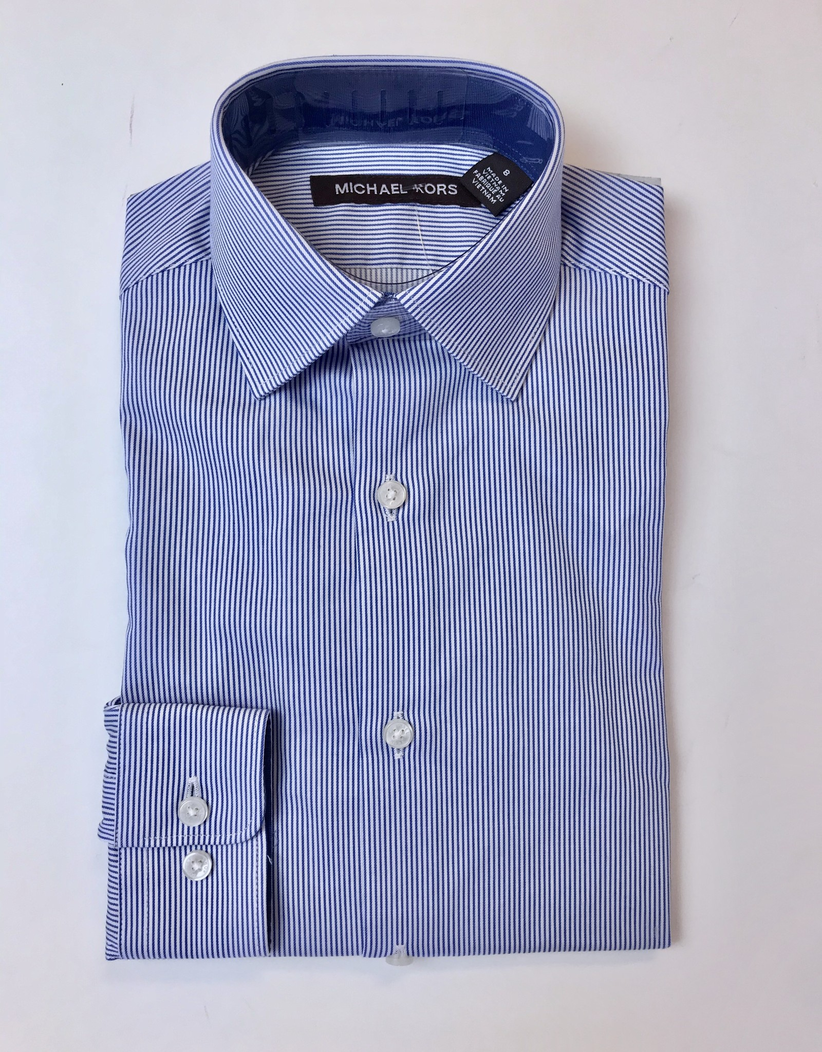Michael Kors Shirt Blue University Stripe