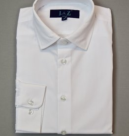 Leo and Zachary Shirt White Solid boys
