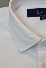Leo and Zachary Shirt White Solid broadcloth boys