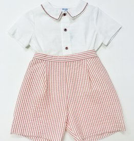 Mayoral Shortset Red seersucker 12m-4T