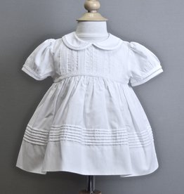 Feltman Dress White pleats with collar Feltman 87402