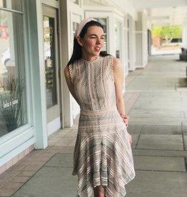 Mauve Mesh & Lace Dress